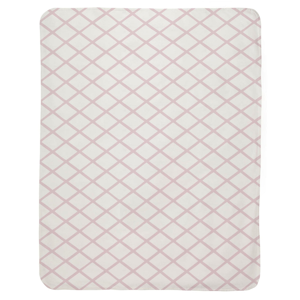 Product image for Pink Trellis Baby Blanket