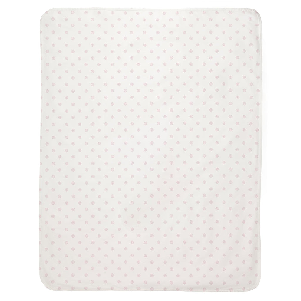 Product image for Pink Ditsy Dot Baby Blanket