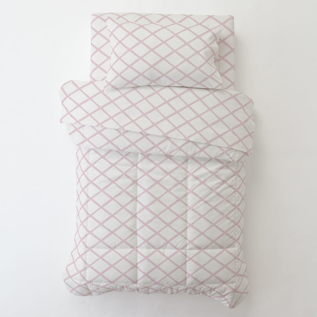 Product image for Pink Trellis Toddler Comforter