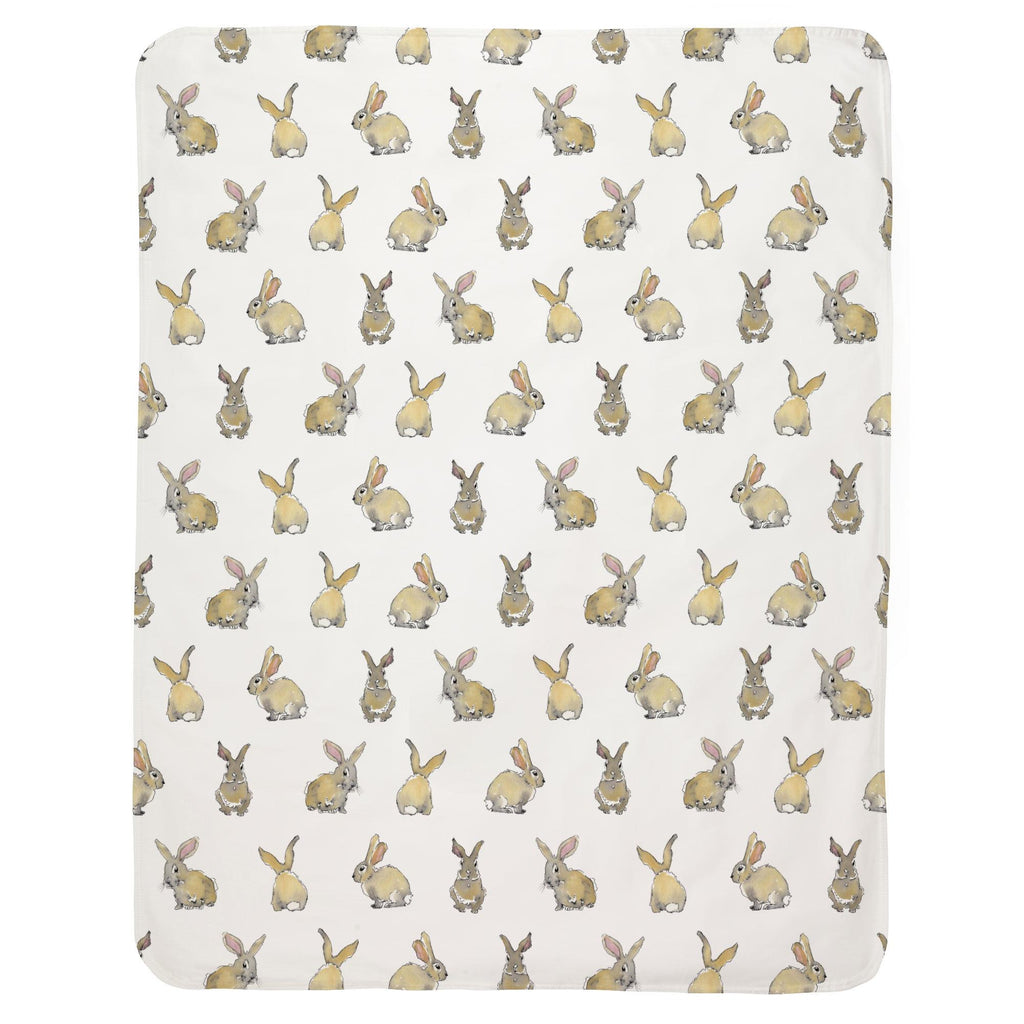 Product image for Watercolor Rabbits Baby Blanket