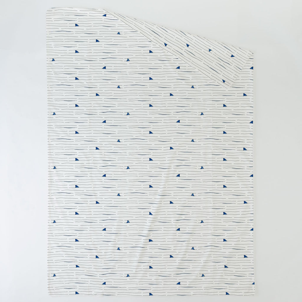 Product image for Shark Fin Stripe Duvet Cover