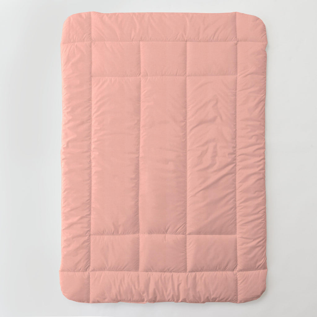 Product image for Solid Light Coral Toddler Comforter