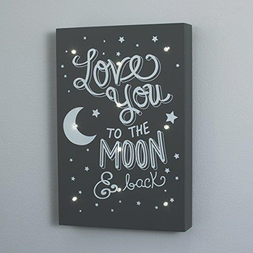 Product image for To The Moon and Back Lighted Wall Art