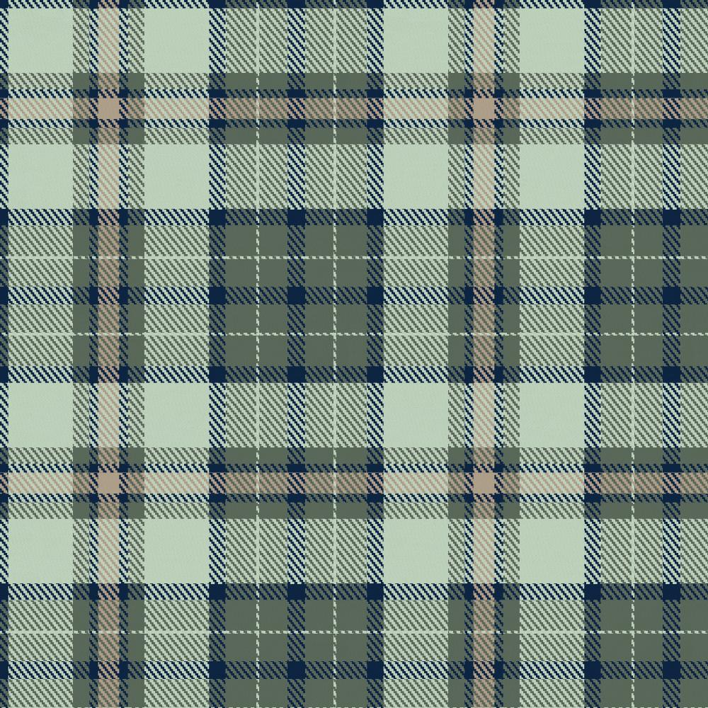 Product image for Navy and Seafoam Plaid Drape Panel