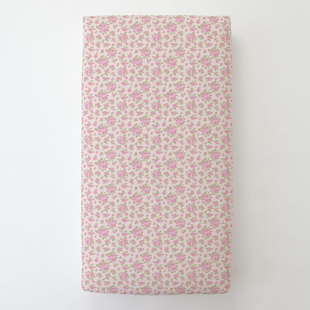Product image for Pink Rosettes Toddler Sheet Bottom Fitted