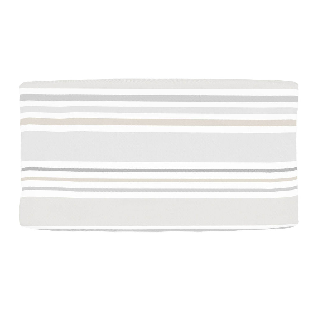 Product image for French Gray and Taupe Summer Stripe Changing Pad Cover