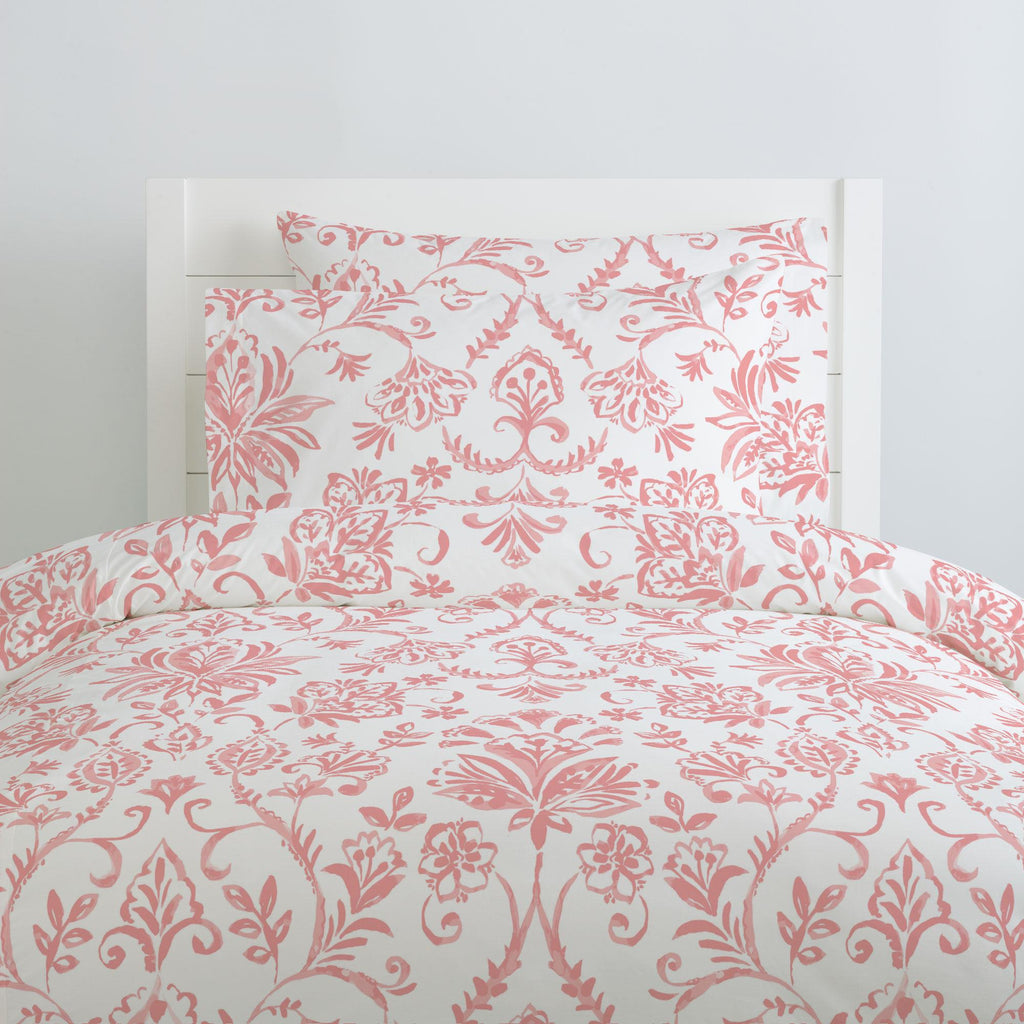 Product image for Coral Pink Coastal Damask Pillow Case