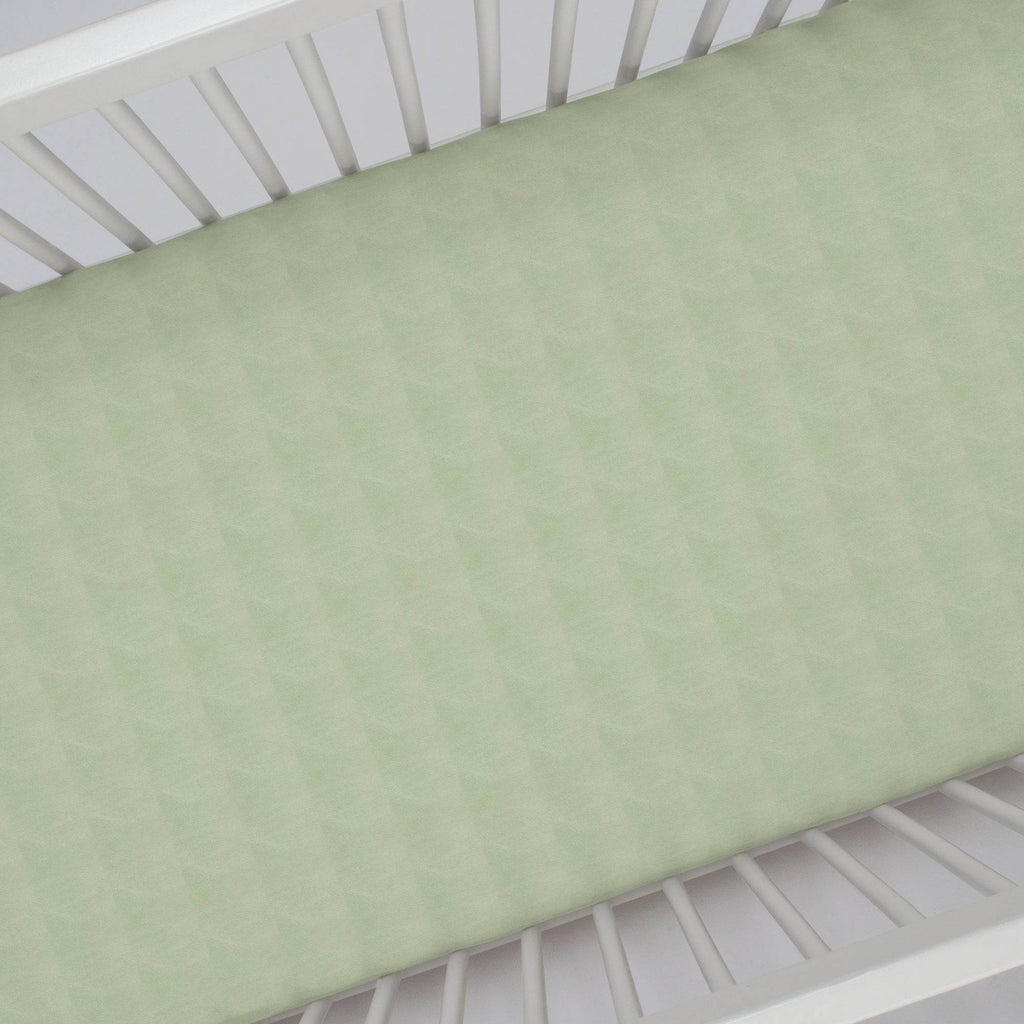 Product image for Solid Sage Minky Crib Sheet