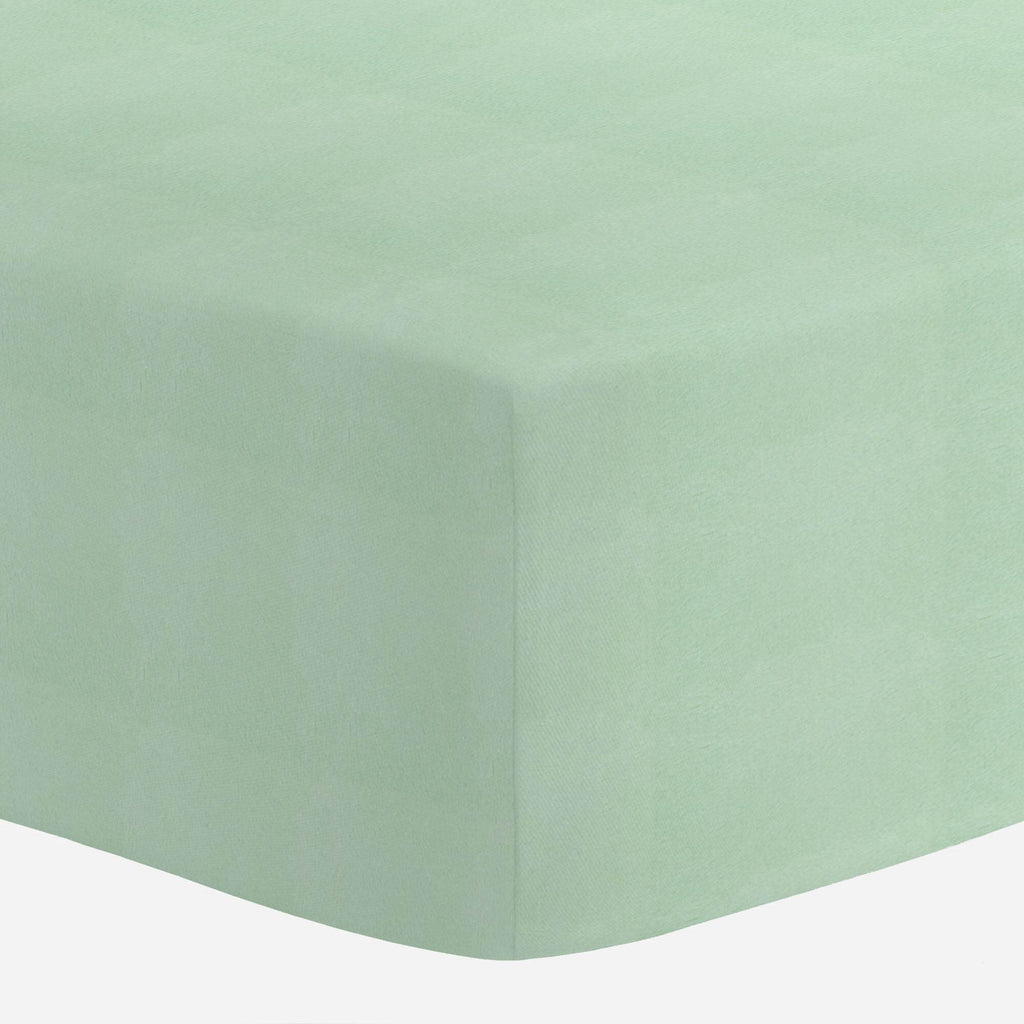Product image for Solid Mint Minky Mini Crib Sheet