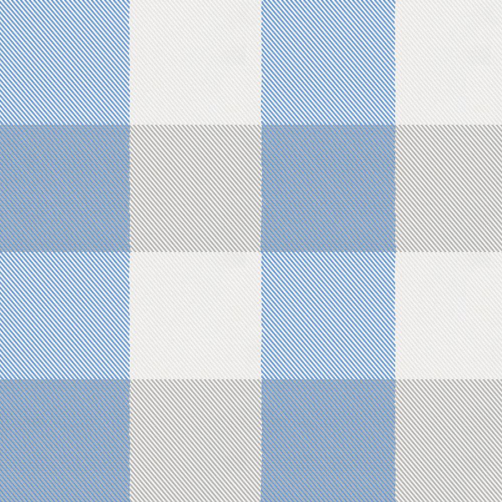 Product image for Blue and Silver Gray Buffalo Check Drape Panel