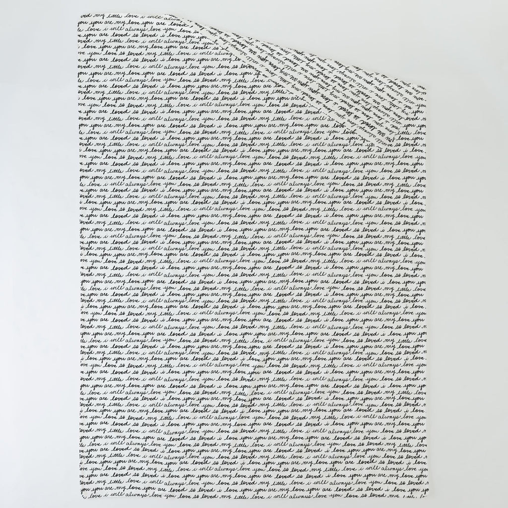 Product image for Onyx Love Words Duvet Cover