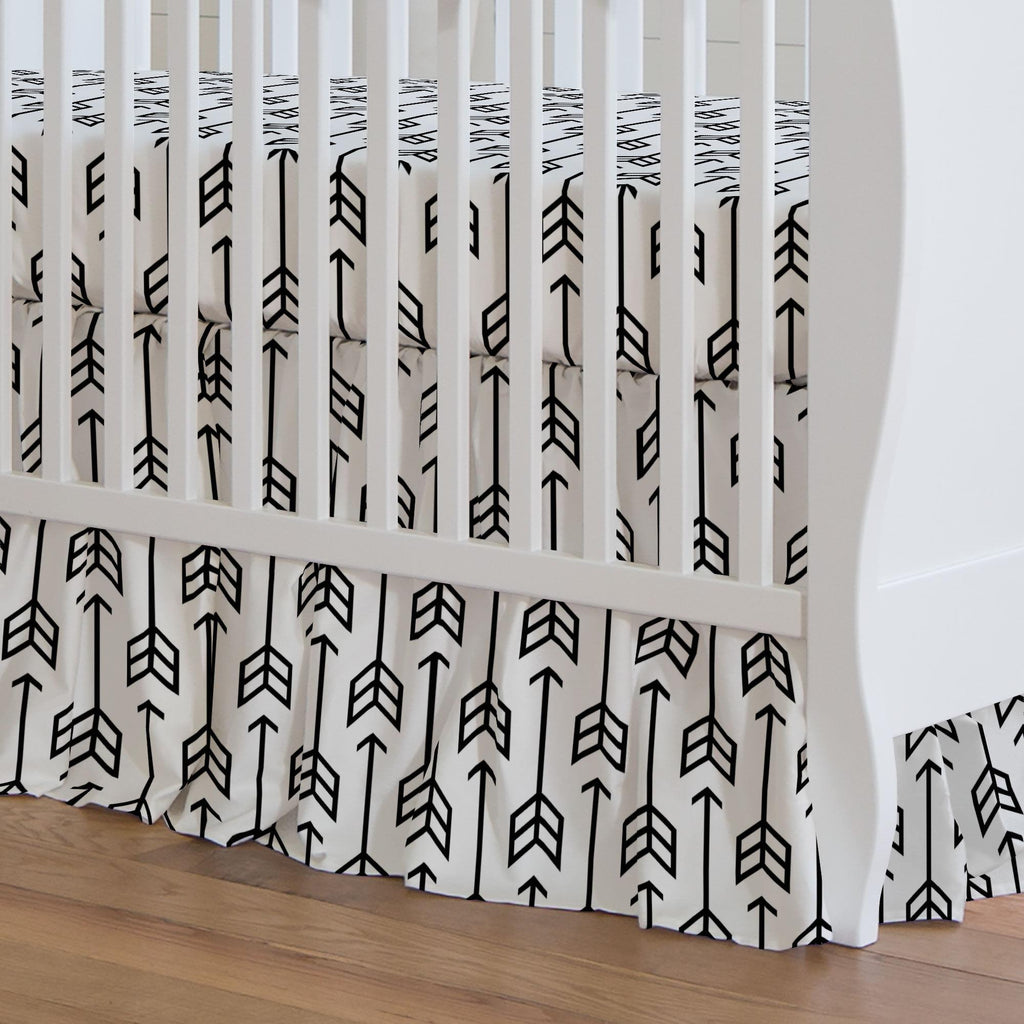 Product image for Black Arrow Crib Skirt Gathered