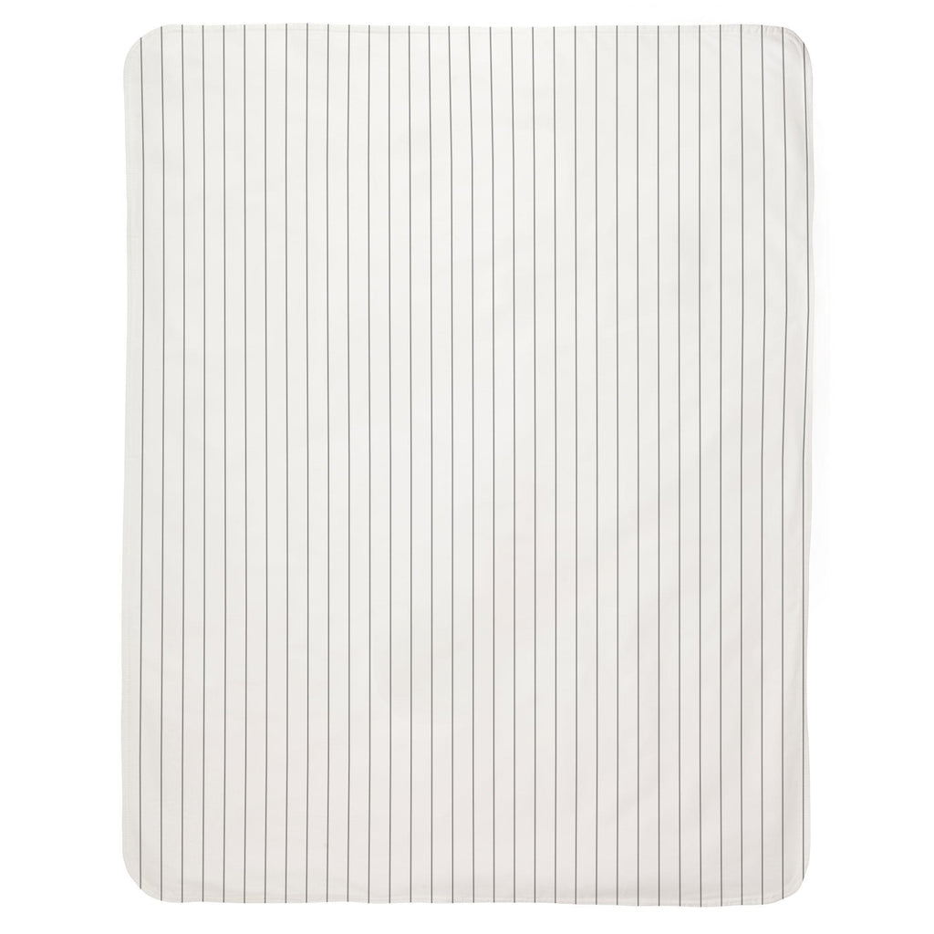 Product image for Cloud Gray Pinstripe Baby Blanket
