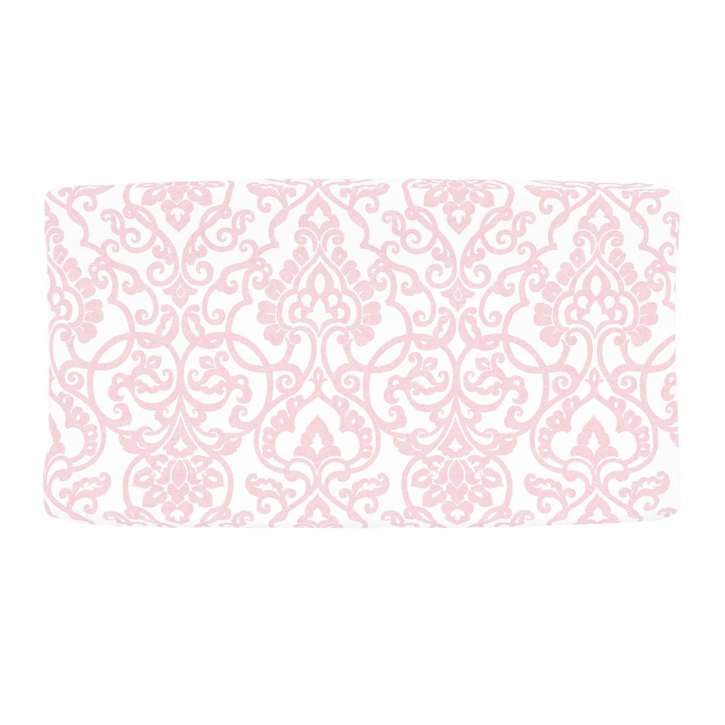 Product image for Pink Filigree Changing Pad Cover