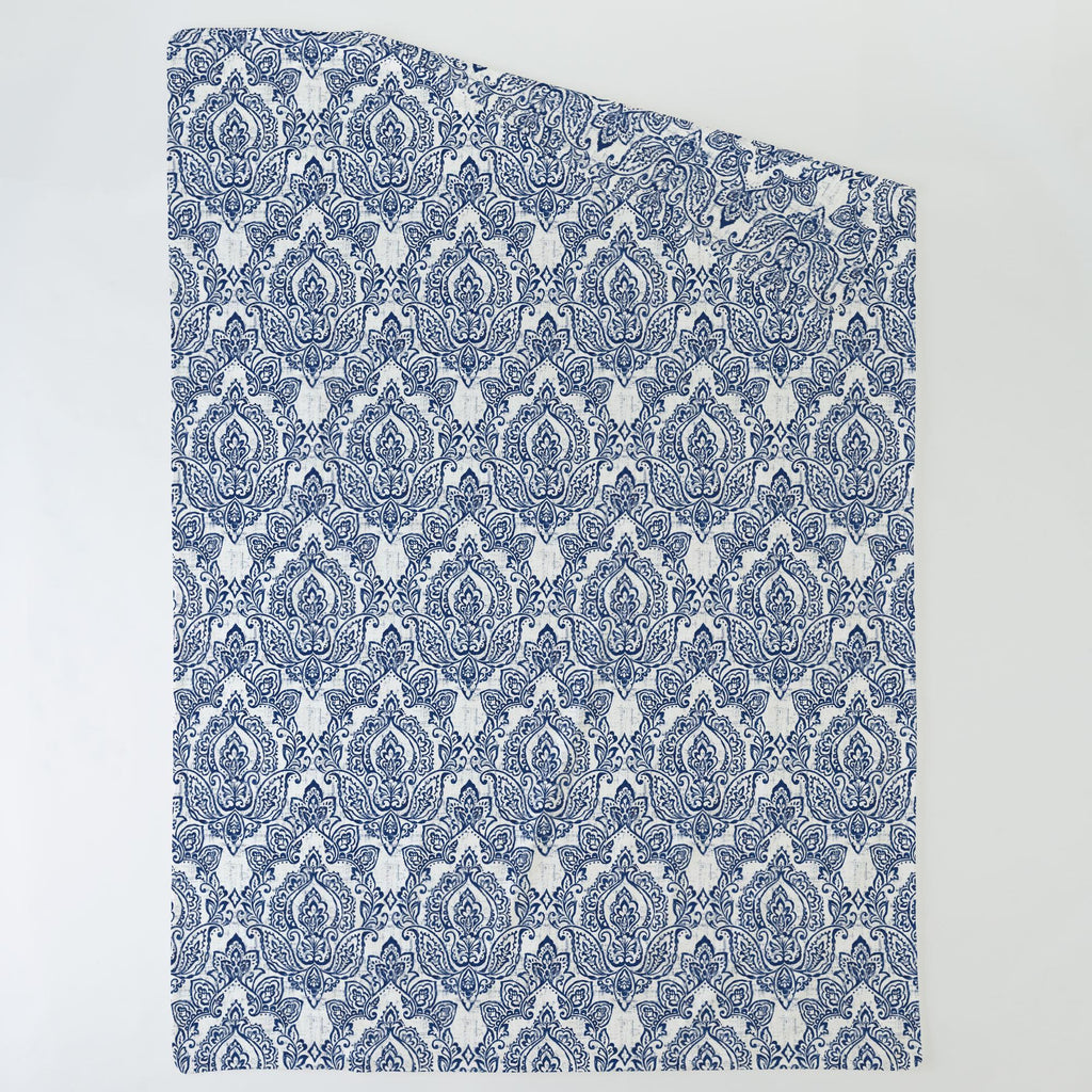 Product image for White and Navy Vintage Damask Duvet Cover