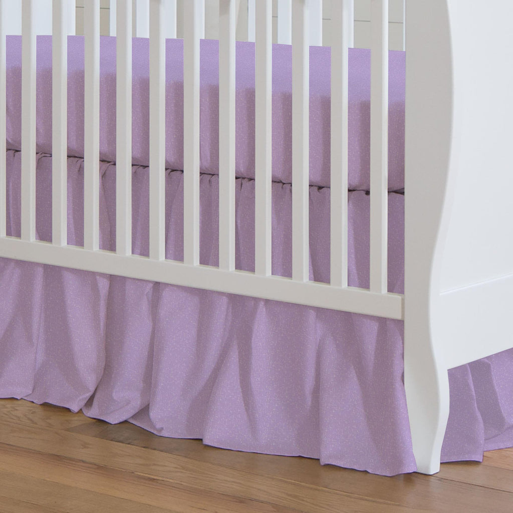 Product image for Pastel Purple Heather Crib Skirt Gathered