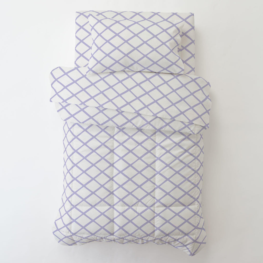 Product image for Lilac Trellis Toddler Pillow Case with Pillow Insert