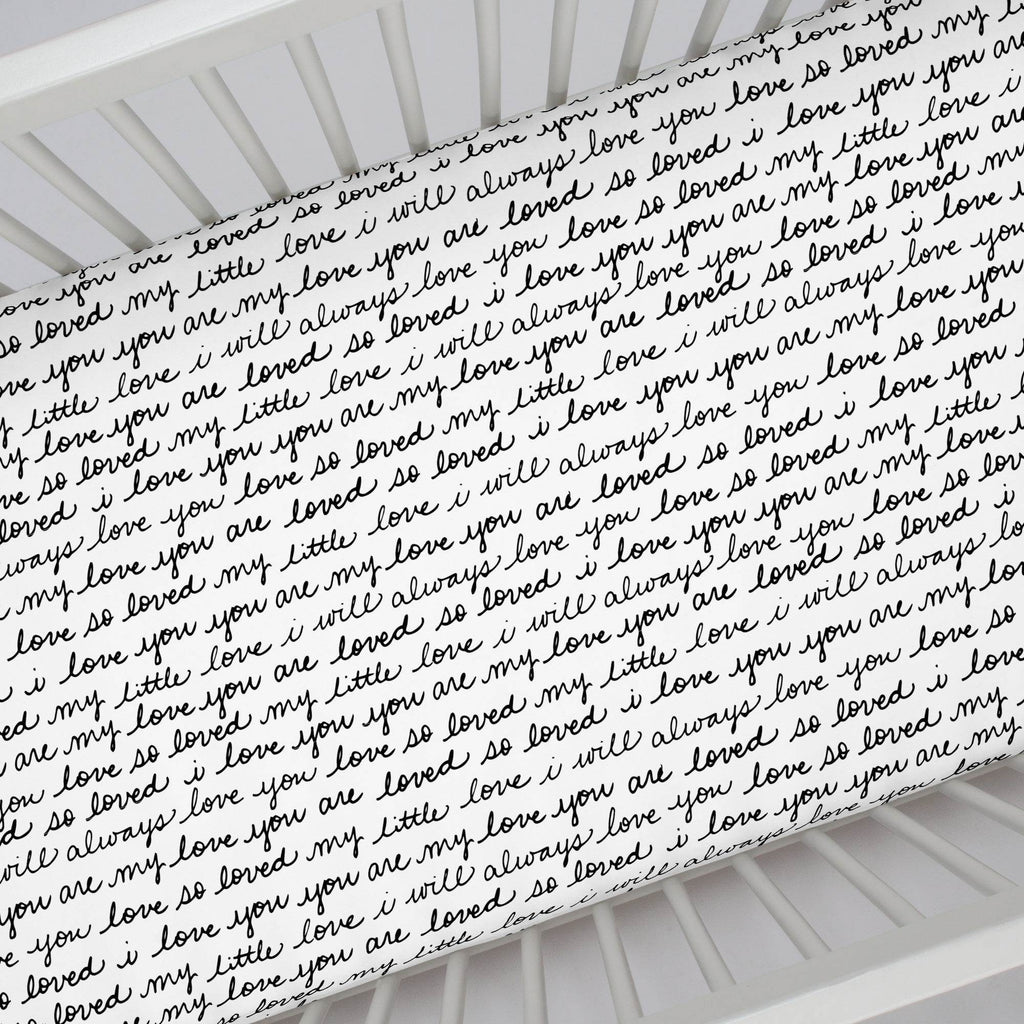 Product image for Onyx Love Words Crib Sheet