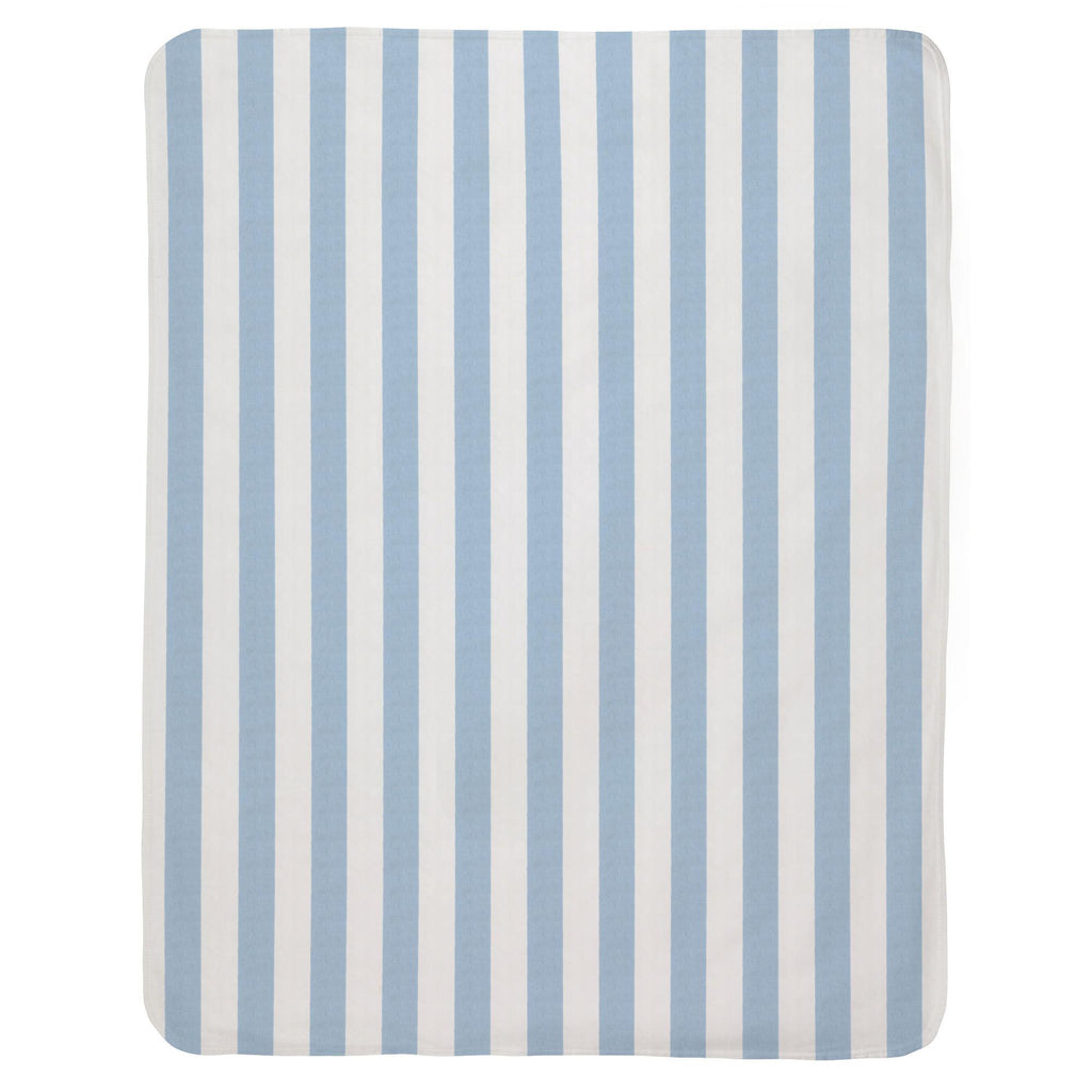 Product image for Blue Giddy Stripe Baby Blanket