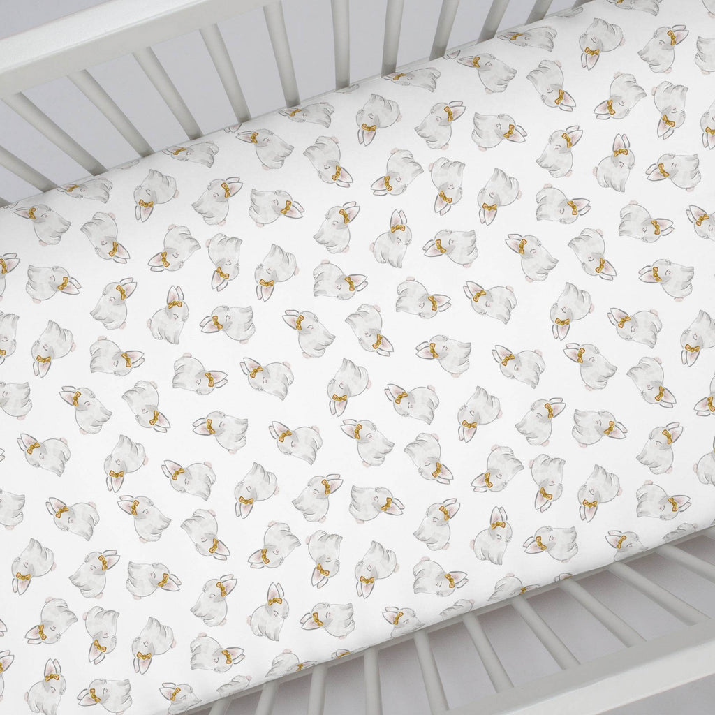 Product image for Painted Bunnies Crib Sheet