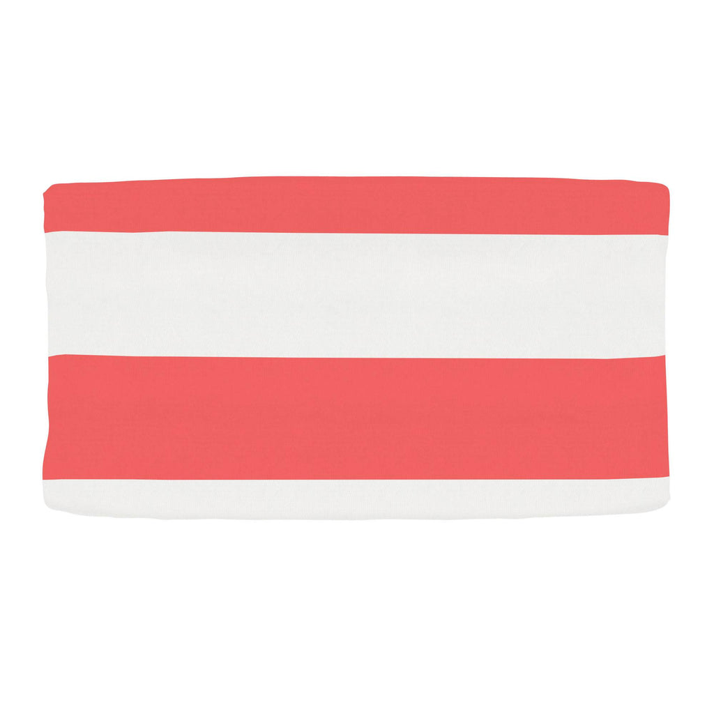 Product image for Coral Horizontal Stripe Changing Pad Cover