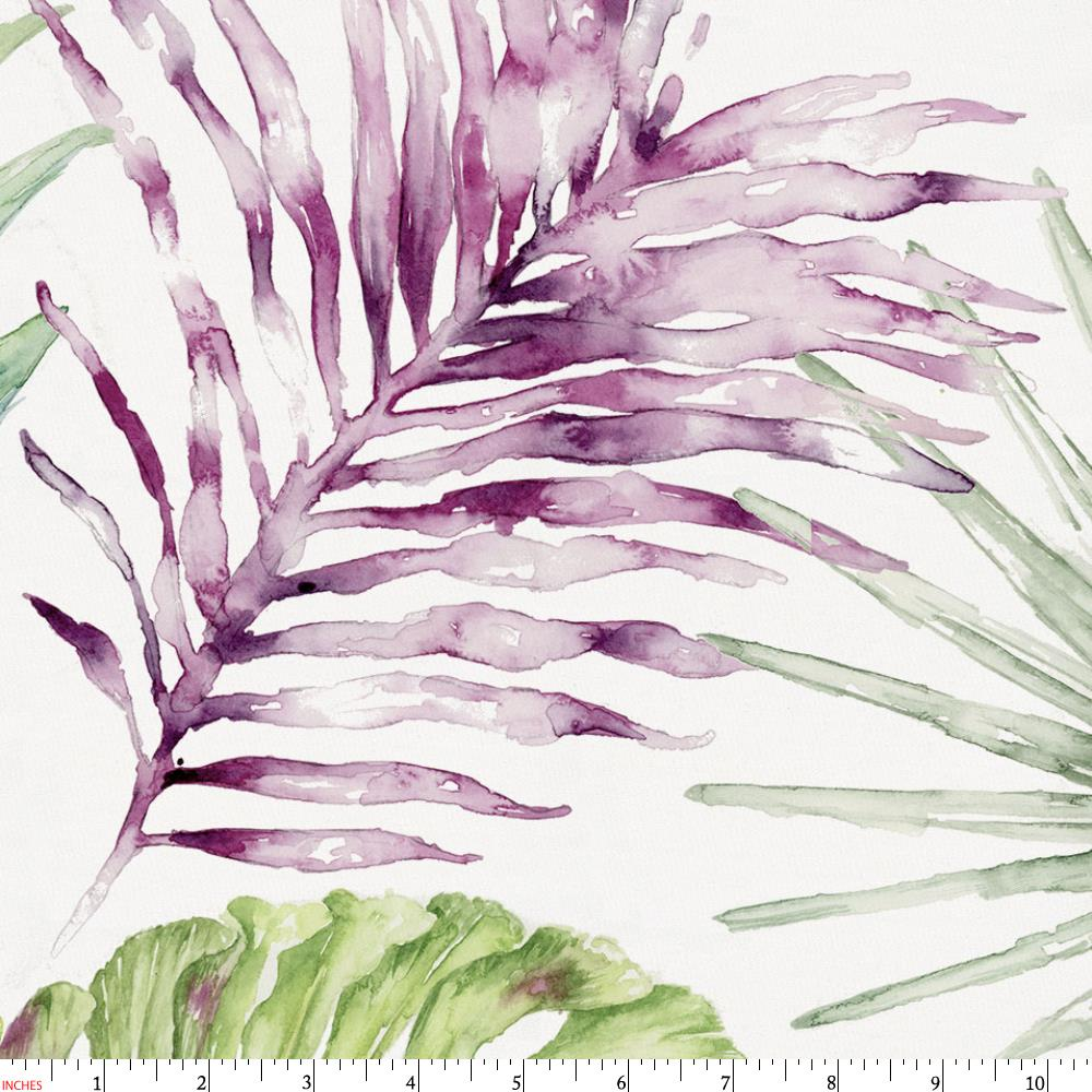 Product image for Purple Painted Tropical Fabric