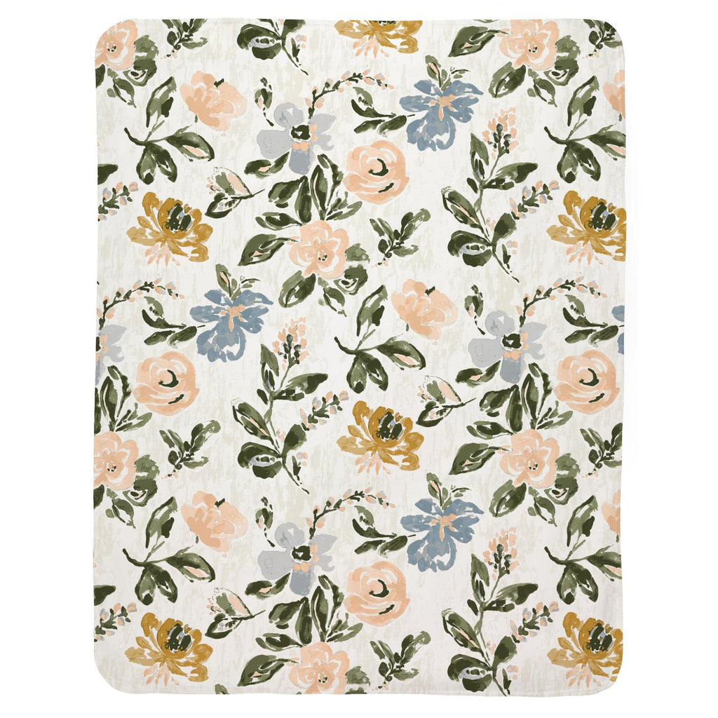 Product image for Blush Garden Baby Blanket