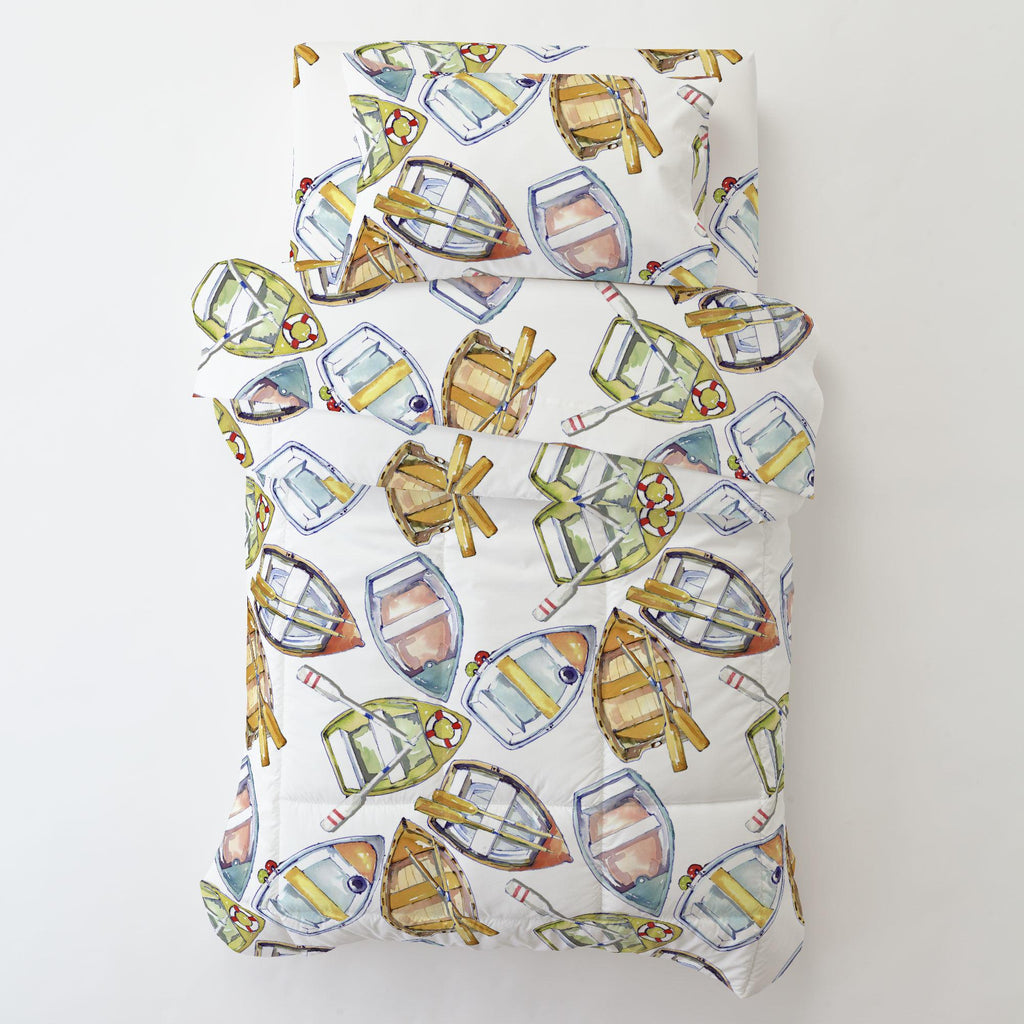 Product image for Watercolor Boats Toddler Pillow Case with Pillow Insert