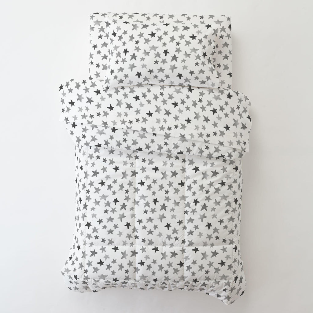 Product image for Gray Watercolor Stars Toddler Comforter
