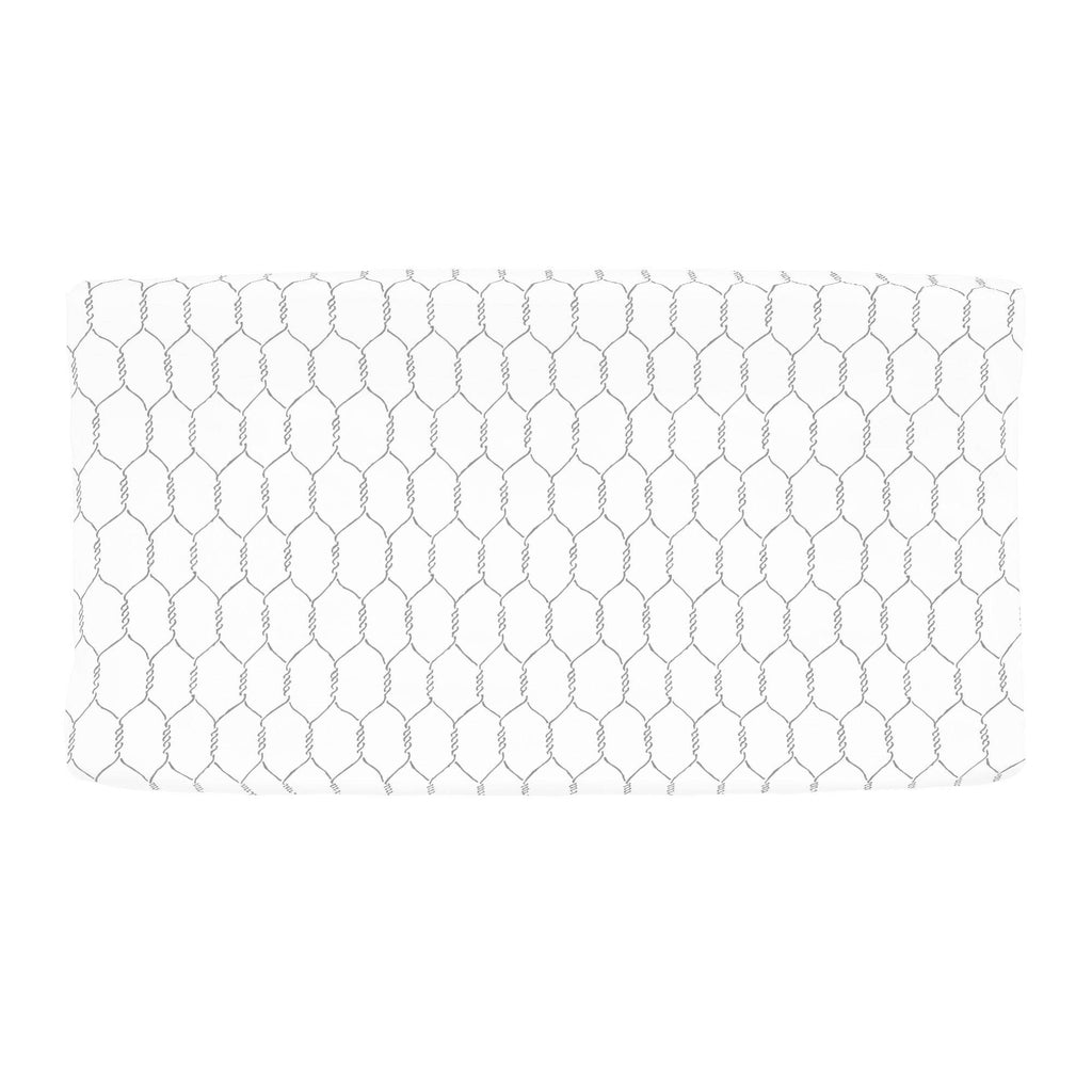 Product image for Gray Farmhouse Wire Changing Pad Cover