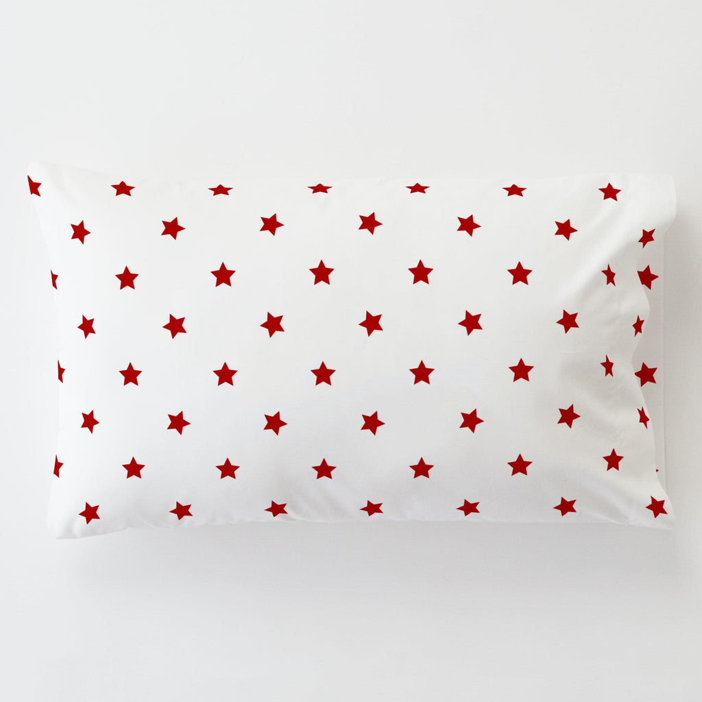 Product image for Red Stars Toddler Pillow Case