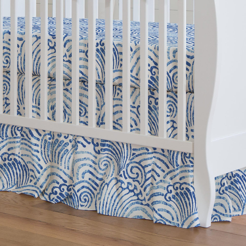 Product image for Blue Seas Crib Skirt Gathered