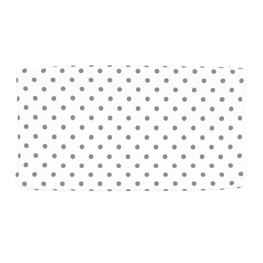 Product image for White and Gray Polka Dot Changing Pad Cover