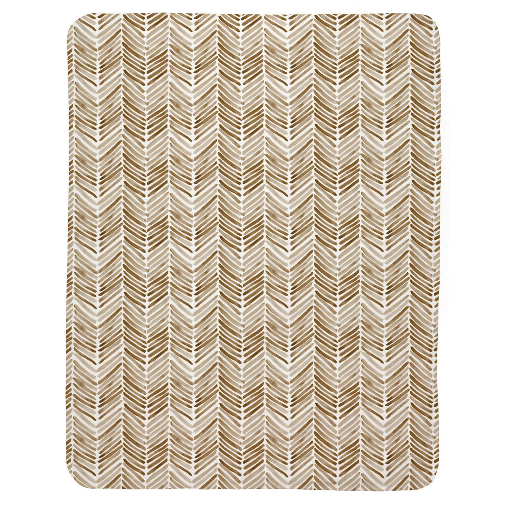 Product image for Caramel Painted Chevron Baby Blanket
