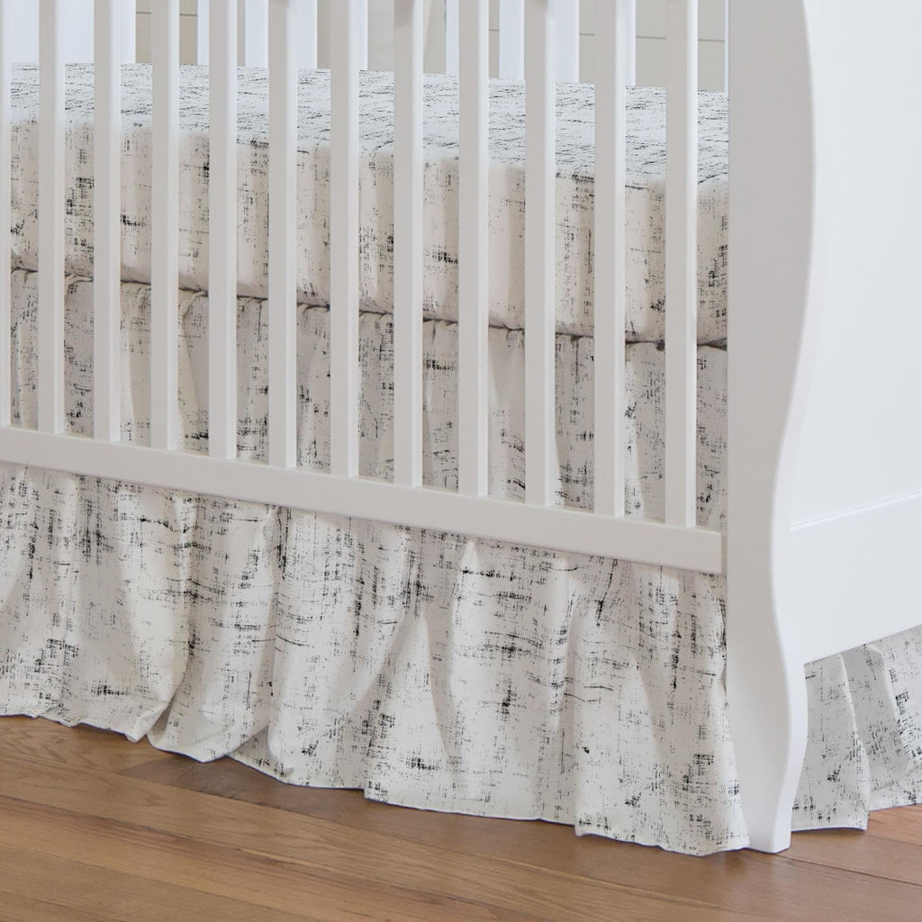 Product image for Onyx Distressed Crib Skirt Gathered