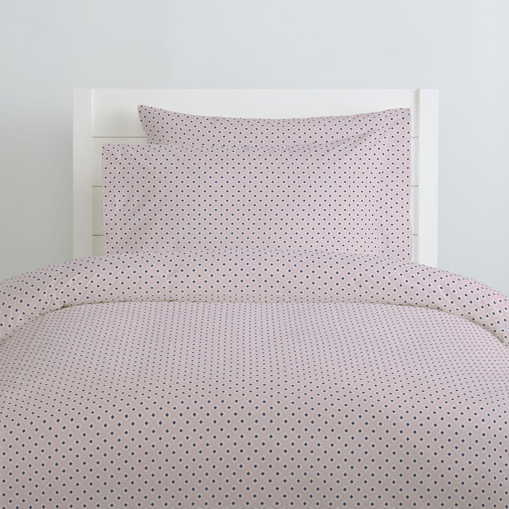 Product image for Pink and Navy Diamond Pillow Case