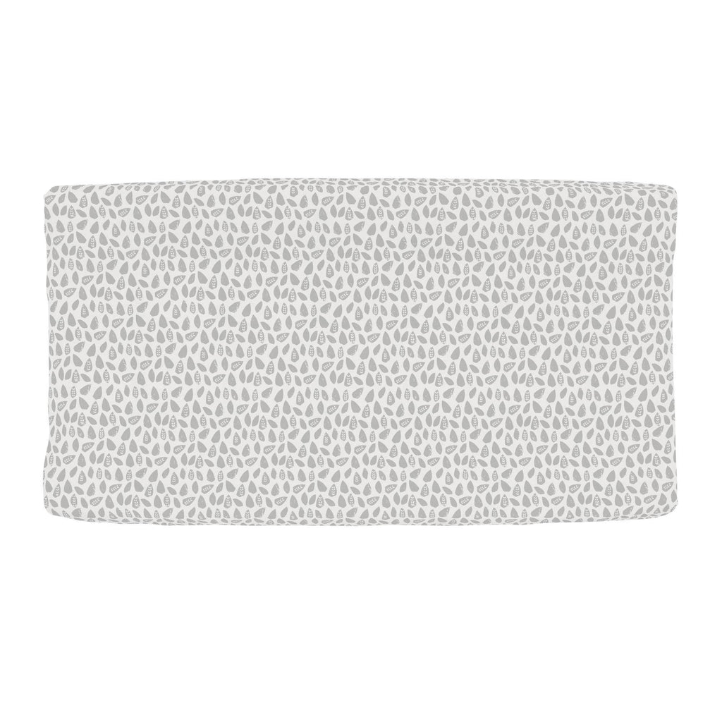 Product image for Gray Woodland Leaf Changing Pad Cover