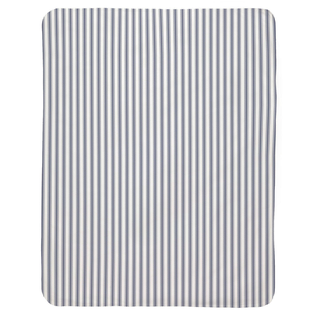 Product image for Windsor Navy Ticking Stripe Baby Blanket