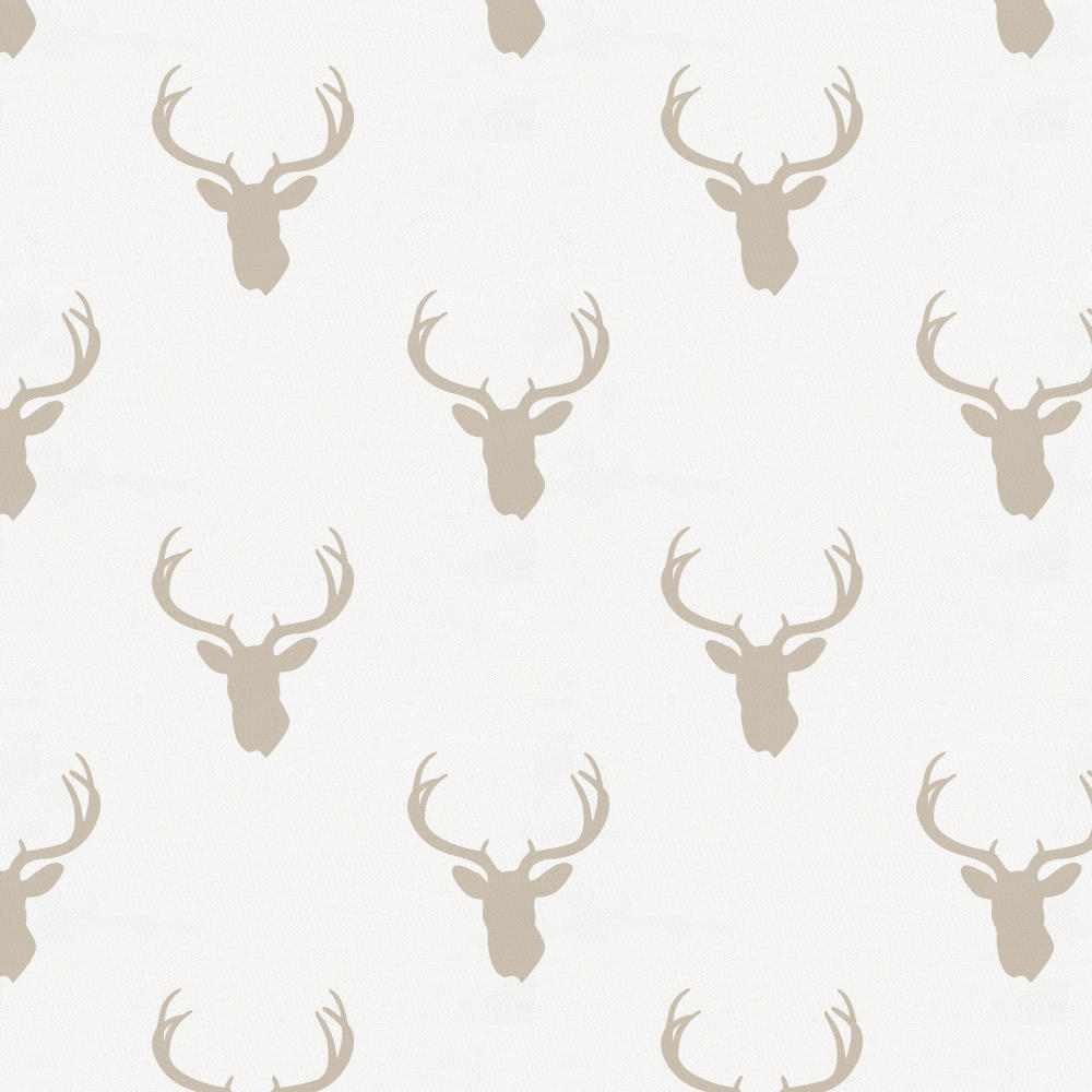 Product image for Taupe Deer Silhouette Drape Panel
