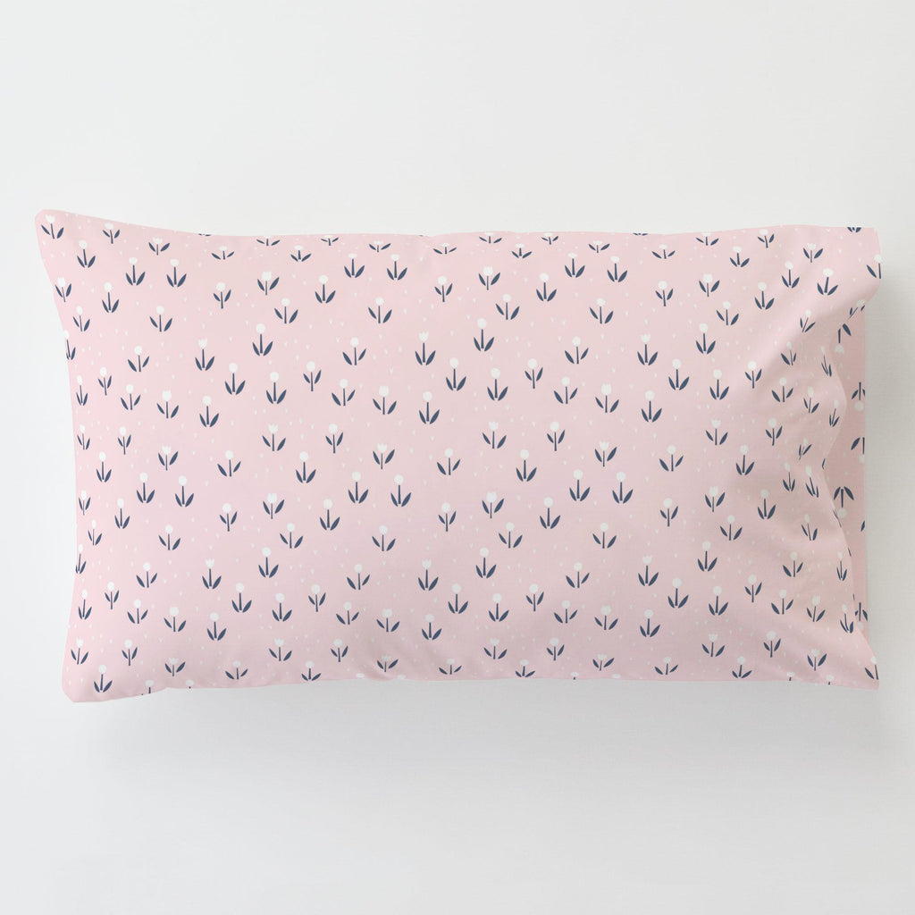 Product image for Pink Baby Woodland Flowers Toddler Pillow Case