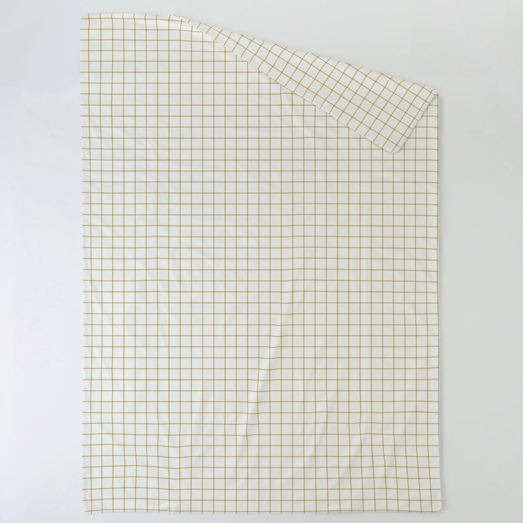 Product image for Mustard Windowpane Duvet Cover