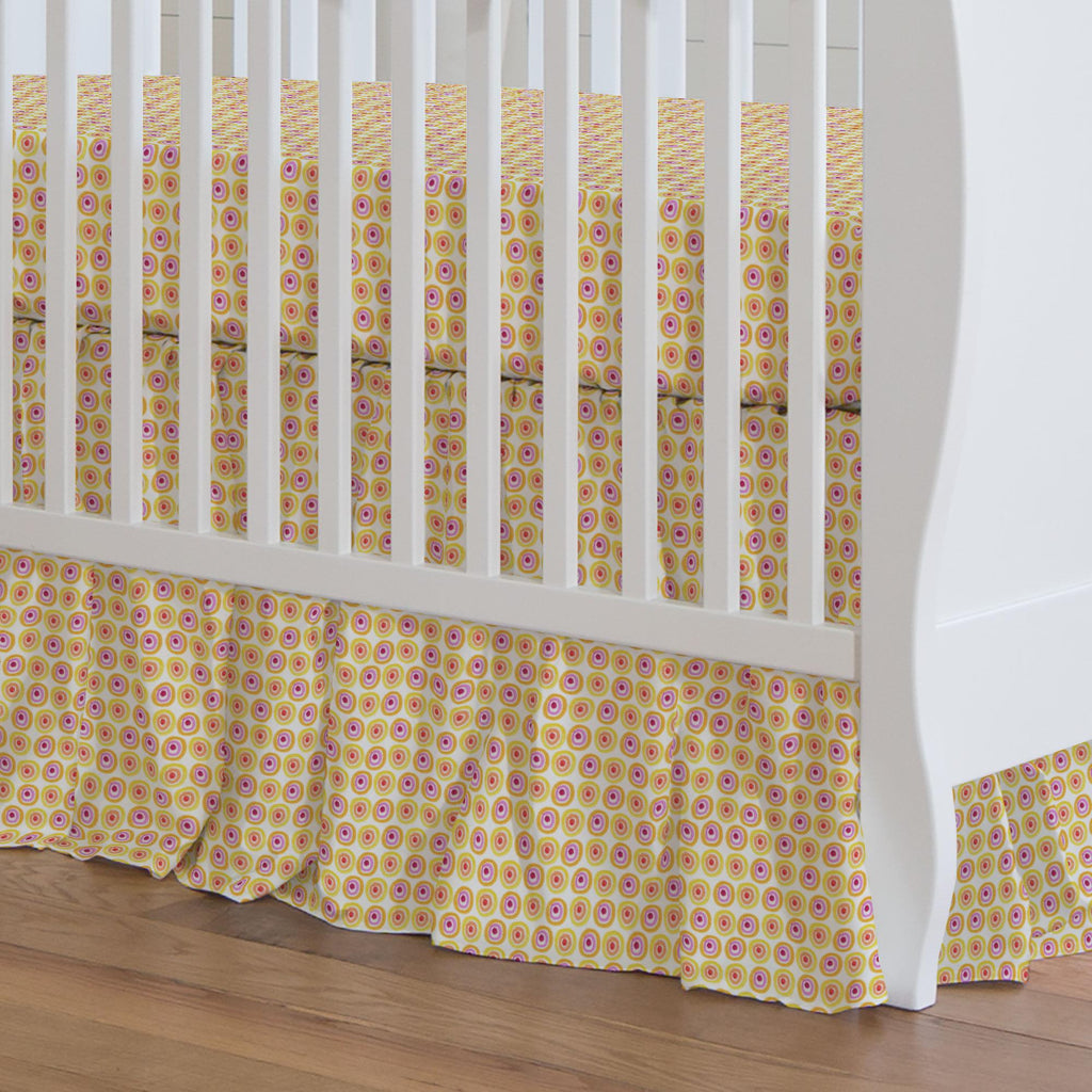 Product image for Festive Dots Crib Skirt Gathered