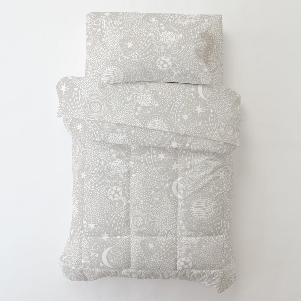 Product image for French Gray and White Galaxy Toddler Comforter