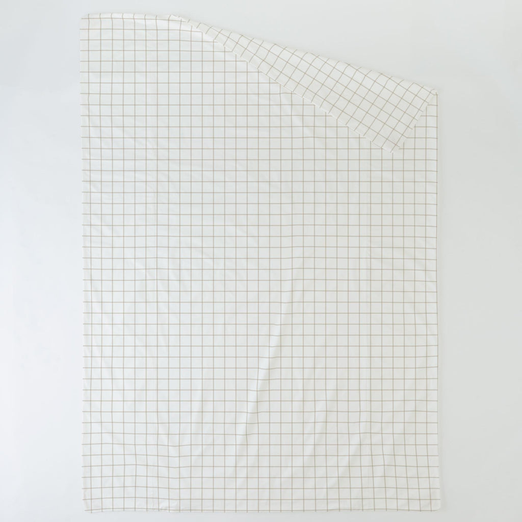 Product image for Taupe Windowpane Duvet Cover