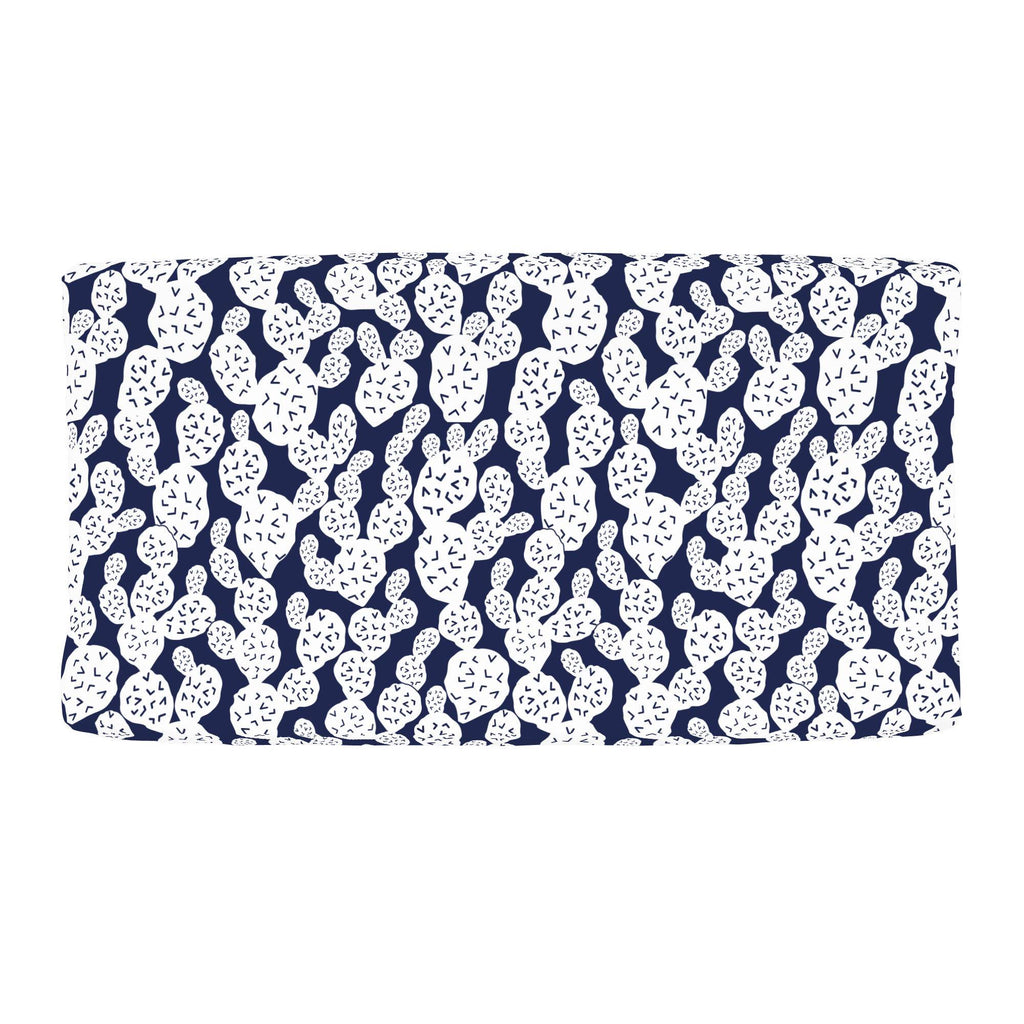 Product image for Navy Prickly Pear Changing Pad Cover