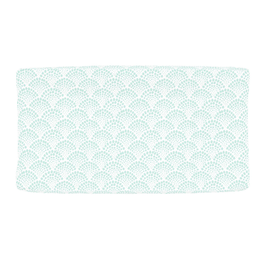 Product image for Icy Mint Scallop Dot Changing Pad Cover