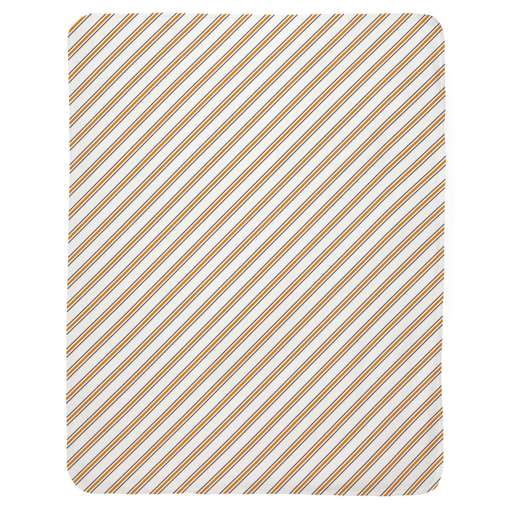 Product image for Gray and Orange Necktie Stripe Baby Blanket