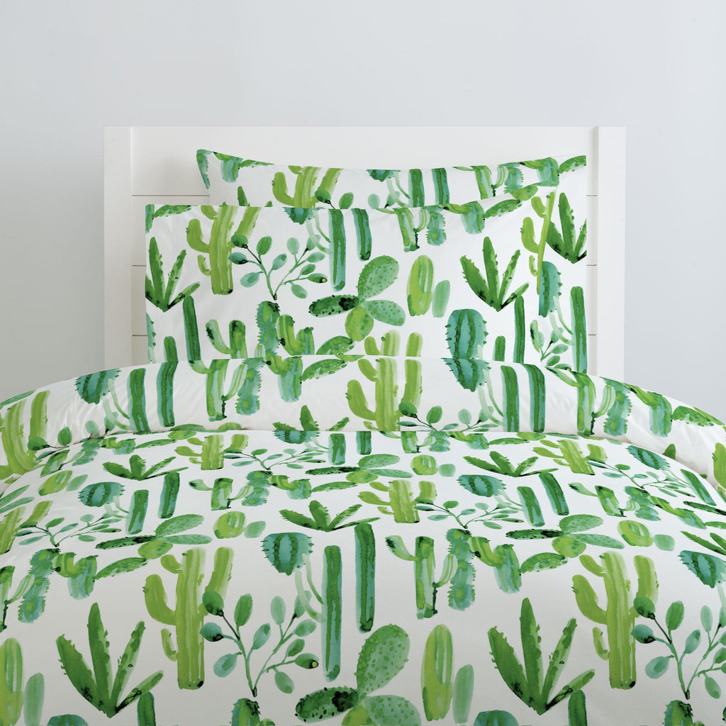 Product image for Green Painted Cactus Pillow Case