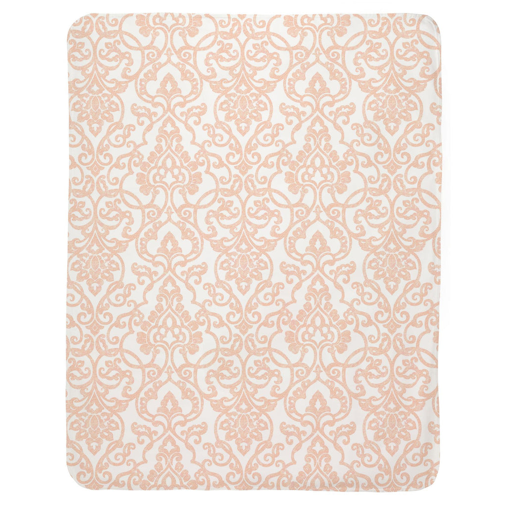 Product image for Peach Filigree Baby Blanket