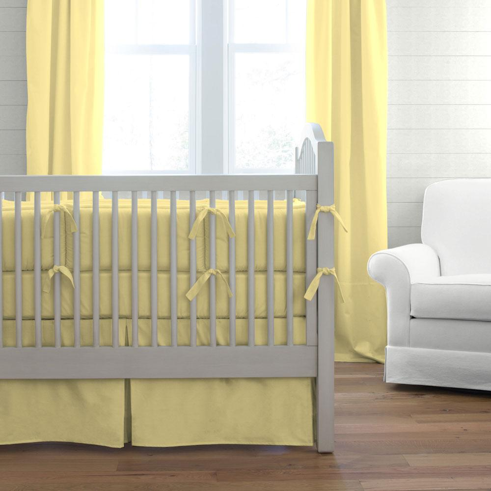 Product image for Solid Banana Crib Bumper
